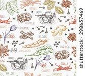 seamless pattern with colored... | Shutterstock .eps vector #298657469