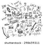 music doodles vector | Shutterstock .eps vector #298659311