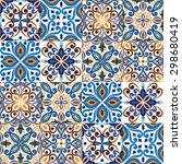 seamless tile background  blue  ...   Shutterstock .eps vector #298680419