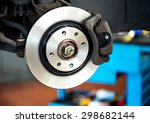 brand new brake disc on car in... | Shutterstock . vector #298682144