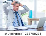 furious businessman looking at... | Shutterstock . vector #298708235