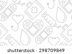 minimal flat line medical and... | Shutterstock .eps vector #298709849