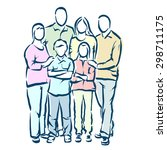 family | Shutterstock .eps vector #298711175