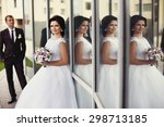 romantic gentle gorgeous bride...   Shutterstock . vector #298713185