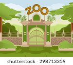 vector image of a colurful zoo... | Shutterstock .eps vector #298713359