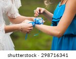 elegant beautiful stylish bride ... | Shutterstock . vector #298716341