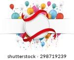white paper banner  emblem ... | Shutterstock .eps vector #298719239