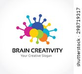 brain creativity education... | Shutterstock .eps vector #298719317