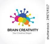 brain creativity education... | Shutterstock .eps vector #298719317