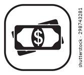 flat icon of money vector icon | Shutterstock .eps vector #298743281