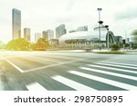 blurred motion of modern...   Shutterstock . vector #298750895