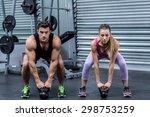 portrait of a muscular couple... | Shutterstock . vector #298753259