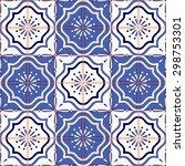 gorgeous seamless patchwork... | Shutterstock .eps vector #298753301