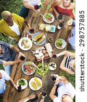 friends friendship outdoor... | Shutterstock . vector #298757885