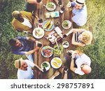 friends friendship outdoor... | Shutterstock . vector #298757891