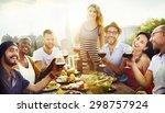 friend friendship dining... | Shutterstock . vector #298757924