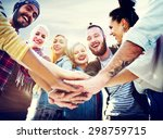 friendship join hands... | Shutterstock . vector #298759715