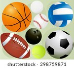 sport balls   Shutterstock .eps vector #298759871