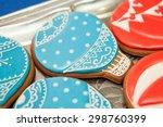 gingerbread cookies. soft focus.... | Shutterstock . vector #298760399