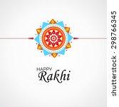 vector beautiful rakhi on white ... | Shutterstock .eps vector #298766345