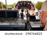 Sound And Lighting Desk At An...
