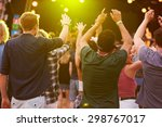 back view of audience at a... | Shutterstock . vector #298767017