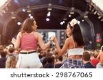 Two Girls On Shoulders In The...