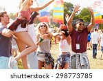 friends enjoying a performance...   Shutterstock . vector #298773785