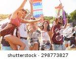friends enjoying a performance... | Shutterstock . vector #298773827