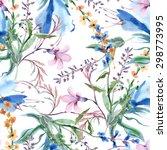 field flowers seamless pattern | Shutterstock . vector #298773995