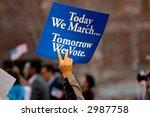 activist holding political sign ... | Shutterstock . vector #2987758