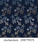colorful seamless pattern with... | Shutterstock .eps vector #298779575