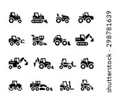 set icons of tractors  farm and ... | Shutterstock .eps vector #298781639