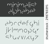minimalist alphabet lower case... | Shutterstock .eps vector #298783391