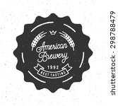 brew house vintage logotype for ... | Shutterstock .eps vector #298788479