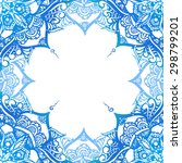decorative background with blue ... | Shutterstock .eps vector #298799201