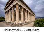 Temple Of Hephaestus In Ancien...