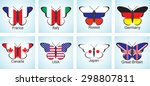 creative image of the flags of...   Shutterstock .eps vector #298807811