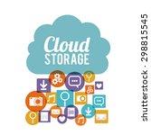 cloud storage digital design ... | Shutterstock .eps vector #298815545
