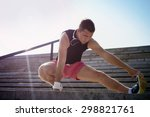 photo of a young athletic man... | Shutterstock . vector #298821761