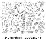 back to school. set of school... | Shutterstock .eps vector #298826345