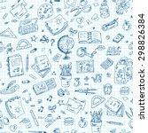 back to school. seamless... | Shutterstock .eps vector #298826384