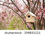 Nesting Box Hanging On The Tree
