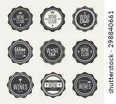 set of labels for club  wine... | Shutterstock .eps vector #298840661