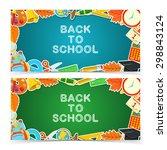 welcome back to school.... | Shutterstock .eps vector #298843124