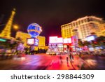 Stock photo blur strip road las vegas nevada 298844309