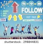 follow follower following... | Shutterstock . vector #298844831
