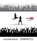 silhouettes sports people.... | Shutterstock .eps vector #298846721