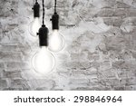 idea concept    incandescent... | Shutterstock . vector #298846964