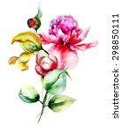 Original Flowers Watercolor...